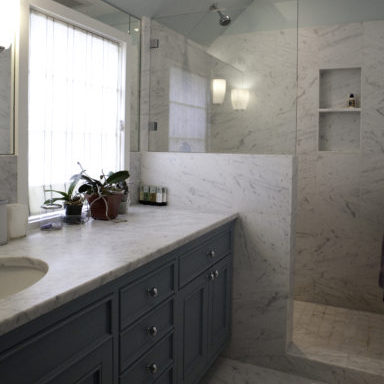 7-presidio-heights-bath-room-cotton-bud-soap-tray-counter-shade-blue-cabinet-vanity-sink-faucet-knob-hardware-shower-glass-screen-niche-tile