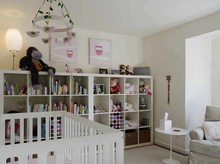 clean and modern kid's room