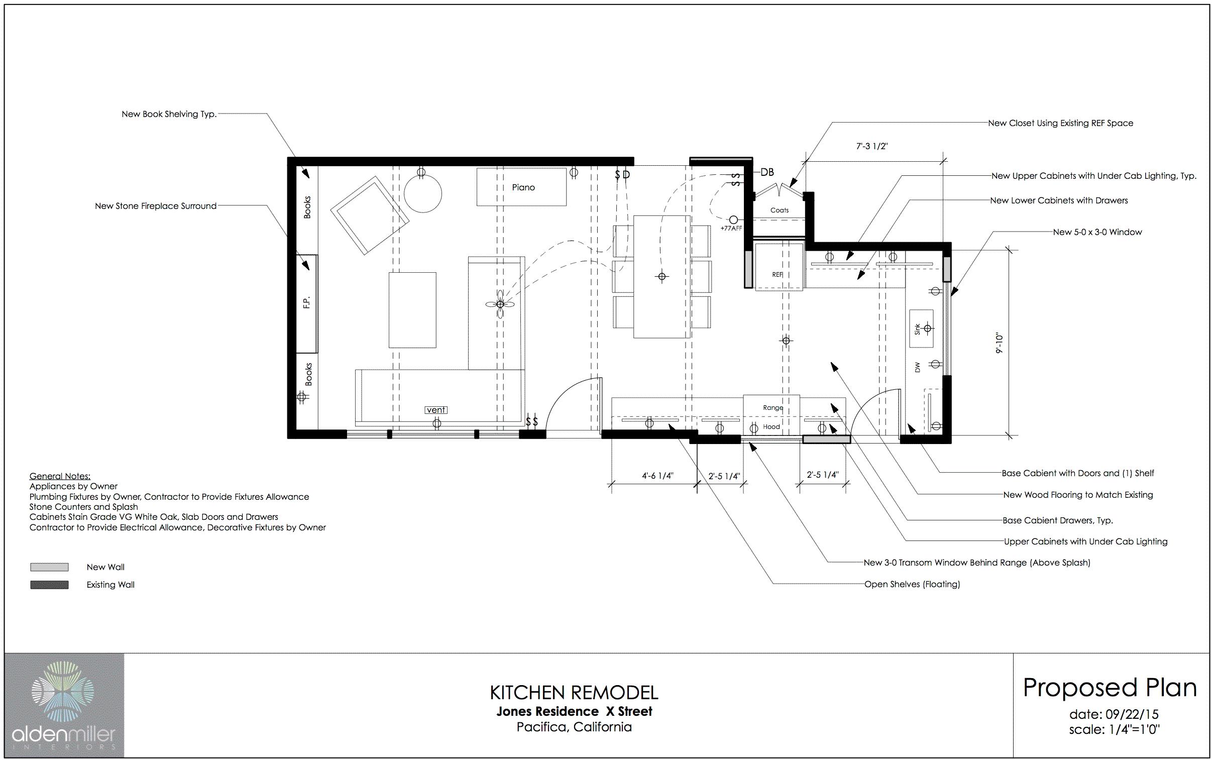 Schematic Design Package - Alden Miller Interiors