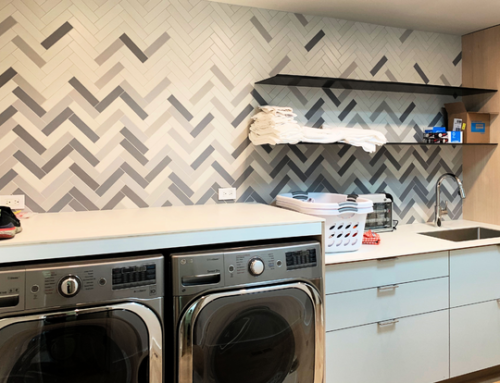 Woodside Laundry Room Tile Design